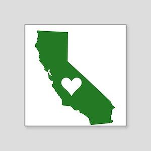 Green California Rectangle Sticker