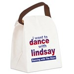 I Want to Dance with Lindsay Canvas Lunch Bag