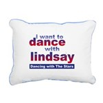 I Want to Dance with Lindsay Rectangular Canvas Pi