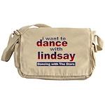 I Want to Dance with Lindsay Messenger Bag