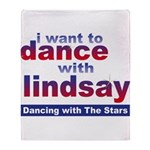 I Want to Dance with Lindsay Throw Blanket