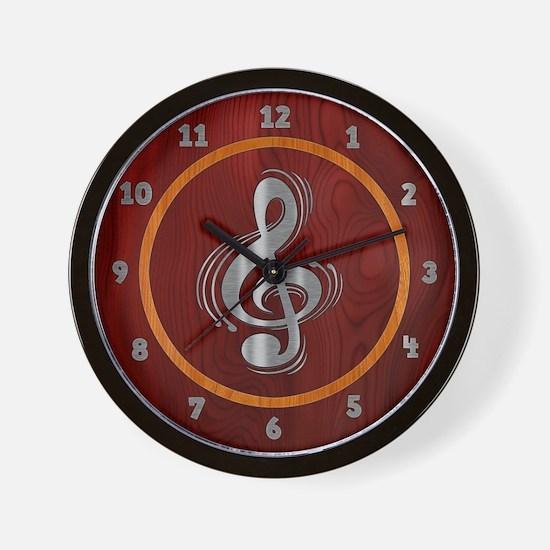 Clef Woodsteel Wall Clock