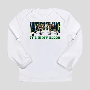Wrestling It's In My Blood Long Sleeve T-Shirt