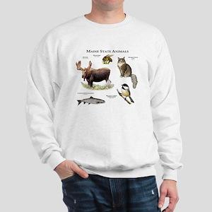 Maine State Animals Sweatshirt