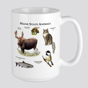 Maine State Animals Large Mug
