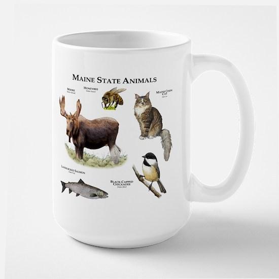 Maine State Animals Large Mug