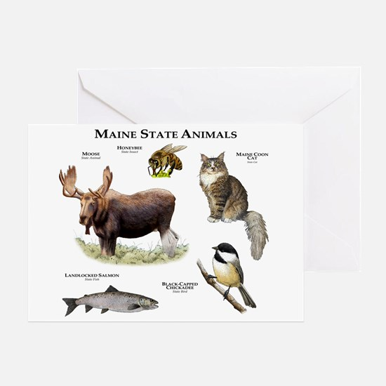 Maine State Animals Greeting Card