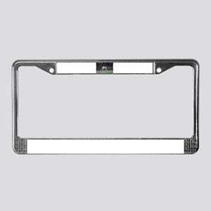 Mother Moose and Calf License Plate Frame