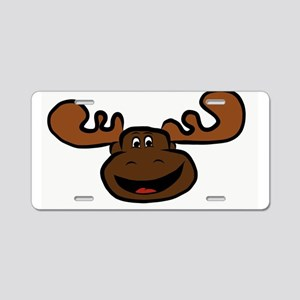 Happy Moose Aluminum License Plate