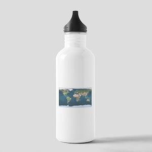 World Map Water Bottle