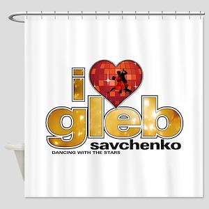 I Heart Gleb Savchenko Shower Curtain