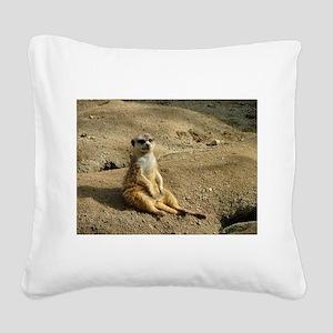 Chillin Like A Villian Square Canvas Pillow