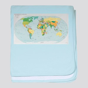 World Atlas baby blanket