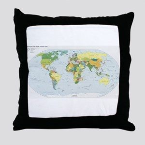 World Atlas Throw Pillow