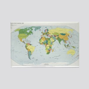 World Atlas Rectangle Magnet