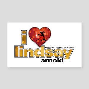 I Heart Lindsay Arnold Rectangle Car Magnet