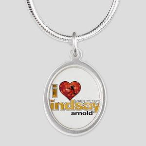 I Heart Lindsay Arnold Silver Oval Necklace
