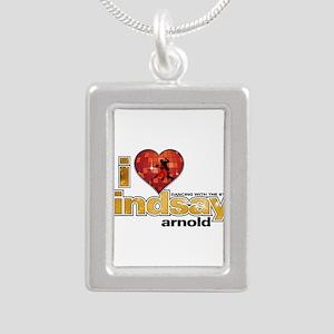 I Heart Lindsay Arnold Silver Portrait Necklace
