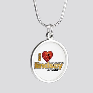 I Heart Lindsay Arnold Silver Round Necklace