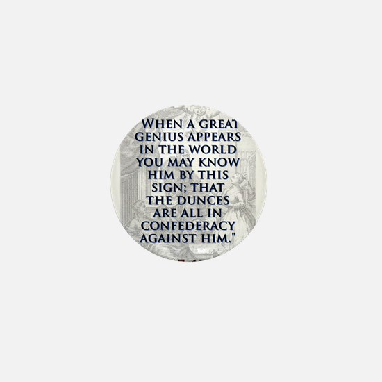 When A Great Genius Appears - J Swift Mini Button