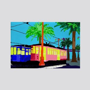 Cable Car Color Rectangle Magnet