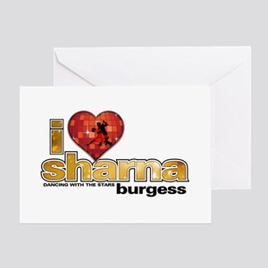 I Heart Sharna Burgess Greeting Card