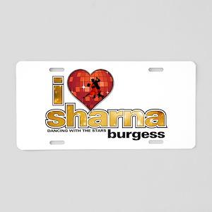 I Heart Sharna Burgess Aluminum License Plate
