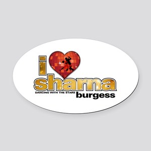 I Heart Sharna Burgess Oval Car Magnet