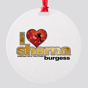 I Heart Sharna Burgess Round Ornament