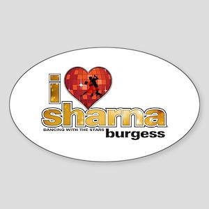 I Heart Sharna Burgess Oval Sticker