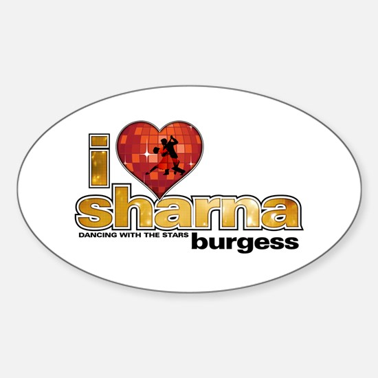 I Heart Sharna Burgess Oval Decal