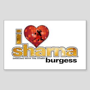 I Heart Sharna Burgess Rectangle Sticker