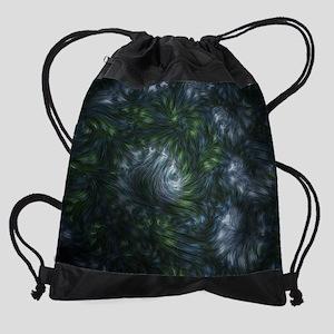 fractal-twist-cal Drawstring Bag