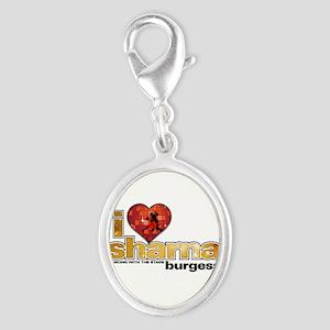 I Heart Sharna Burgess Silver Oval Charm