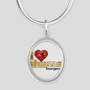 I Heart Sharna Burgess Silver Oval Necklace