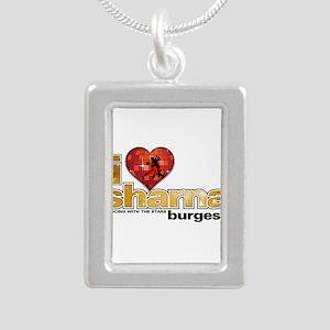 I Heart Sharna Burgess Silver Portrait Necklace