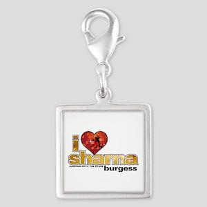 I Heart Sharna Burgess Silver Square Charm