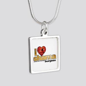 I Heart Sharna Burgess Silver Square Necklace