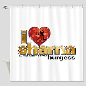 I Heart Sharna Burgess Shower Curtain