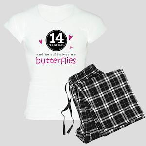14th Anniversary Butterflies Women's Light Pajamas