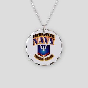 NAVY - PO3 Necklace Circle Charm