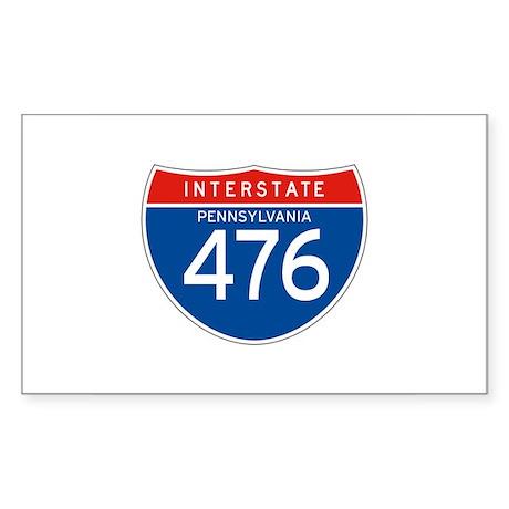 Interstate 476 - PA Rectangle Sticker