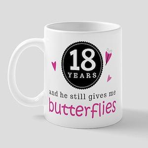 18th Anniversary Butterflies Mug