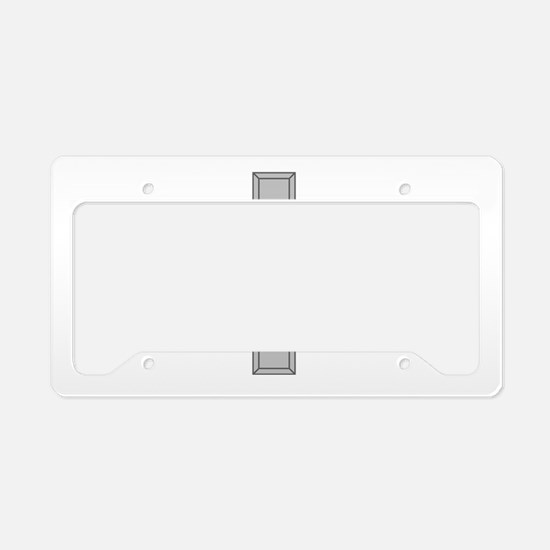 Silver Cross License Plate Holder