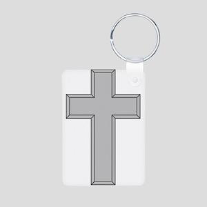 Silver Cross Keychains