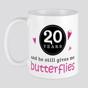 20th Anniversary Butterflies Mug