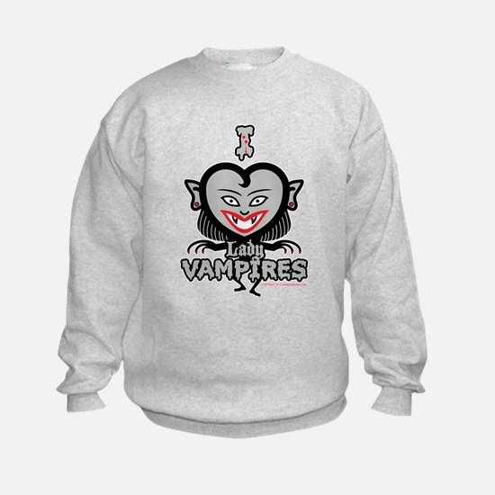 I Heart Lady Vampires Sweatshirt