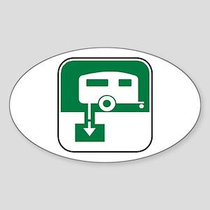 Dump Station Oval Sticker