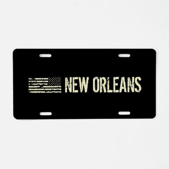 Black Flag: New Orleans Aluminum License Plate