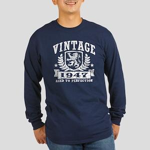 Vintage 1947 Long Sleeve Dark T-Shirt